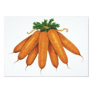 Nourriture vintage, groupe de légumes organiques carton d'invitation  12,7 cm x 17,78 cm