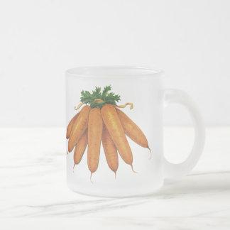 Nourriture vintage, groupe de légumes organiques mug en verre givré