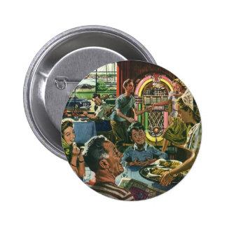 Nourriture vintage, restaurant de wagon-restaurant badge
