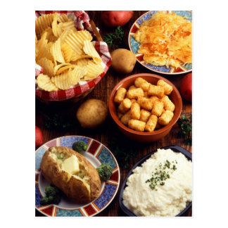 Nourritures de pomme de terre carte postale