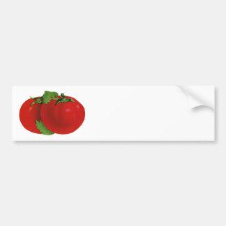 Nourritures vintages, tomate mûre rouge organique autocollant pour voiture