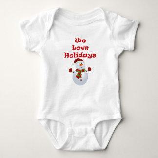 Nous aimons la barboteuse de bébé de vacances