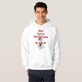 Nous aimons le sweat - shirt à capuche des hommes