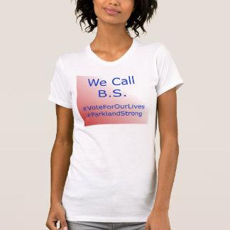 Nous appelons le T-shirt de charité de B.S.