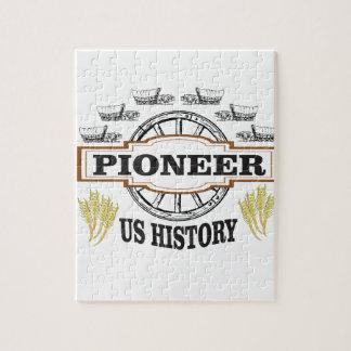 nous art pionnier d'histoire puzzle