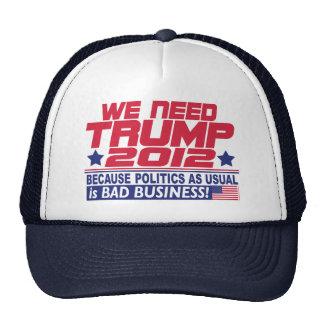 Nous avons besoin d'atout 2012 casquettes de camionneur