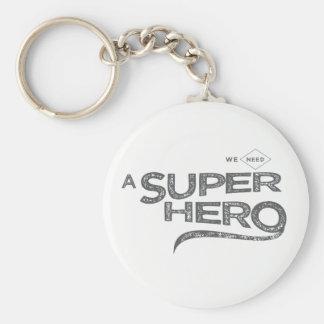nous avons besoin d'un superhéros porte-clé rond