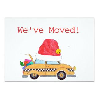 Nous avons déplacé la cabine de jaune de Noël Carton D'invitation 12,7 Cm X 17,78 Cm