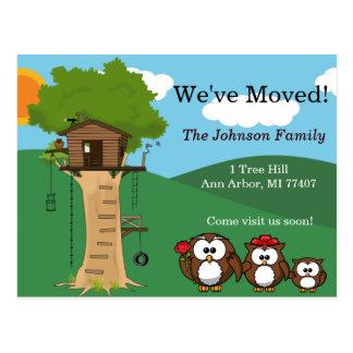 Nous avons déplacé la famille de hibou de la caban cartes postales