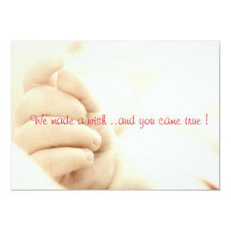 Nous avons fait un souhait. .and vous êtes venus carton d'invitation  12,7 cm x 17,78 cm