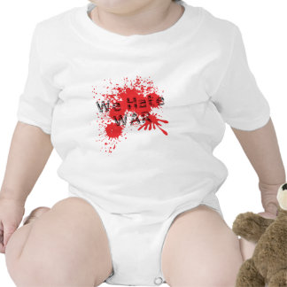 Nous détestons la guerre body pour bébé
