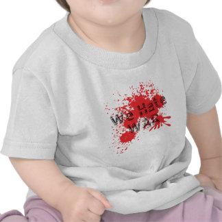 Nous détestons la guerre t-shirts