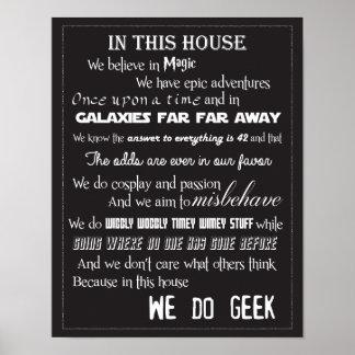 Nous faisons l'affiche de geek - B/W Affiches