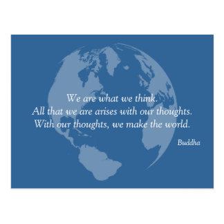 Nous faisons le monde Bouddha citer des cartes