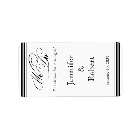 Nous faisons l'étiquette noir et blanc de baume à étiquette d'adresse