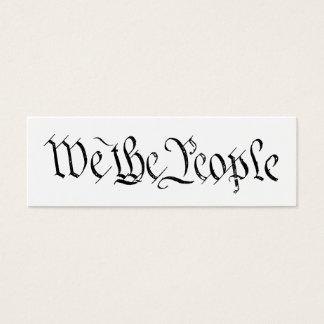 Nous la carte de profil de personnes