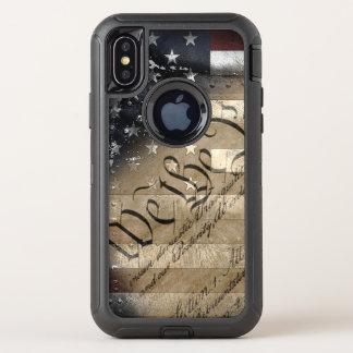 Nous le cas de l'iPhone X de défenseur de drapeau
