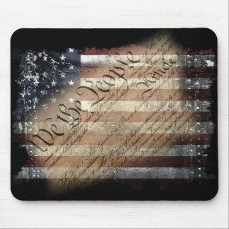 Nous le drapeau américain vintage Mousepad de Tapis De Souris