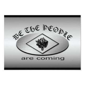 Nous le logo d'écran métallique de personnes avec carton d'invitation  12,7 cm x 17,78 cm