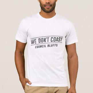 Nous ne marchons pas des bluffs du Conseil de   T-shirt