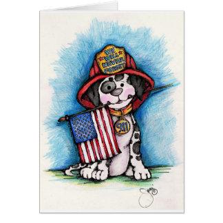 Nous n'oublierons jamais 9/11 Dalmate de Carte De Vœux