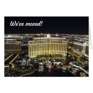 Nous nous sommes déplacés - à Las Vegas Carte De Vœux