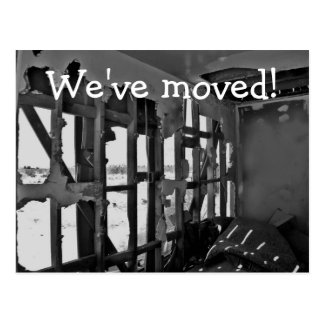 Nous nous sommes déplacés ! carte postale détruite