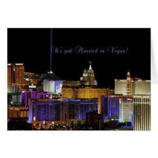 Nous nous sommes mariés à Vegas !  Carte