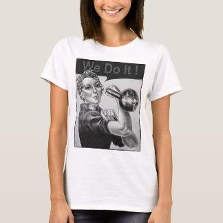 Nous pouvons le faire le T-shirt B&W de Kettlebell