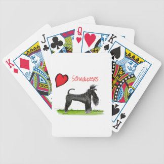 nous schnauzers de luv des fernandes élégants jeu de cartes