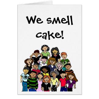 """""""Nous sentons le gâteau !"""" carte d'anniversaire"""