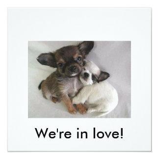 Nous sommes dans l'amour ! carton d'invitation  13,33 cm