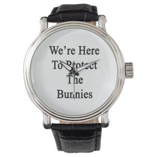 Nous sommes ici pour protéger les lapins montres bracelet