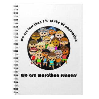 Nous sommes le carnet de marathoniens (blanc)