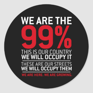 Nous sommes les 99% - 99 pour cent occupent Wall Sticker Rond