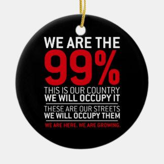 Nous sommes les 99% - 99 pour cent occupent Wall Ornement