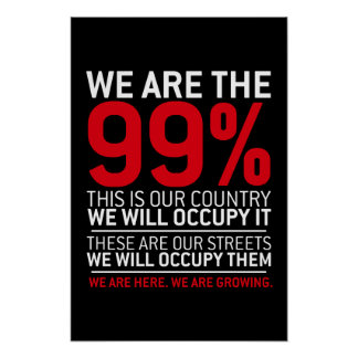 Nous sommes les 99% - 99 pour cent occupent Wall S Poster