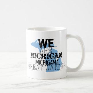 Nous sommes les grandes eaux du Michigan Michigama Tasse À Café