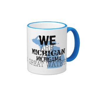 Nous sommes les grandes eaux du Michigan Michigama Mug Ringer