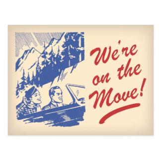 Nous sommes sur le rétro changement d'adresse de carte postale