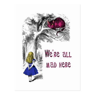 Nous sommes tous fous ici carte postale