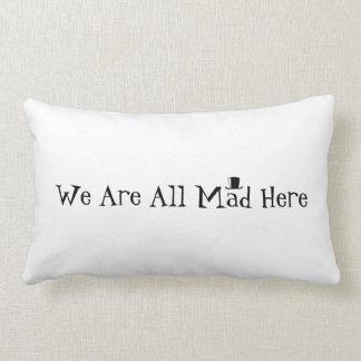 Nous sommes tous fous ici coussins carrés