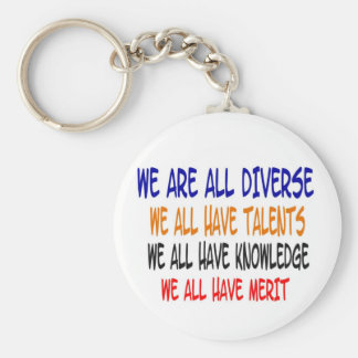 Nous sommes tous nKeychain (blanc) divers Porte-clé Rond