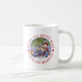 NOUS sommes TOUT LE TOUT À FAIT FOUS, VOUS NOUS Mug Blanc