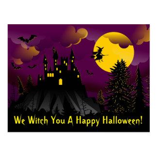 Nous sorcière vous une carte postale heureuse de