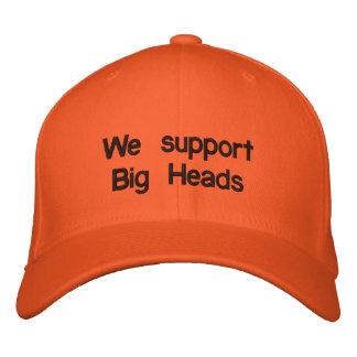 Nous soutenons de grandes têtes casquette brodée