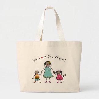 Nous vous aimons le jour de mère heureux de famill sac