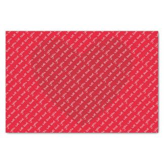 Nous vous aimons papier de soie de soie du coeur |