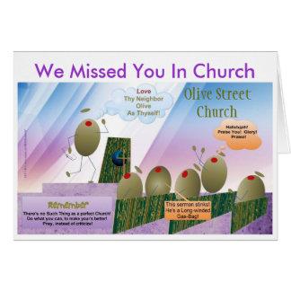 Nous vous avons manqués dans la carte d'église