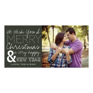 Nous vous souhaitons un carte photo de Joyeux Noël